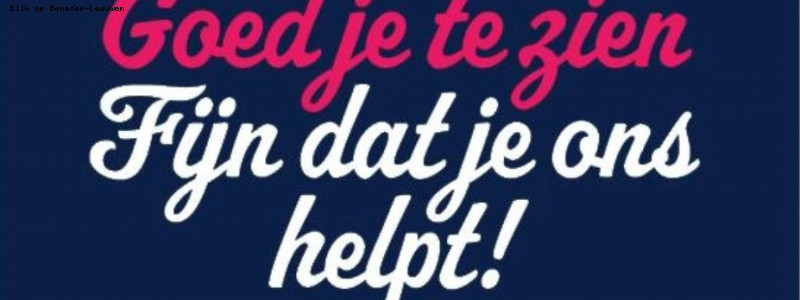 Goed je te zien, fijn dat je ons helpt – deel 2