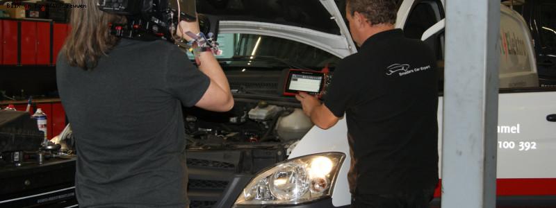 TV opnames bij Smulders Car Expert