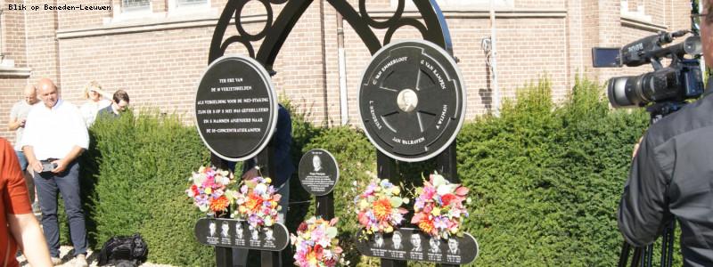 Onthulling herdenkingsmonument verzetsslachtoffers