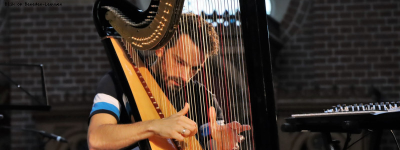 Harpist Remy van Kesteren verrast muziekliefhebbers